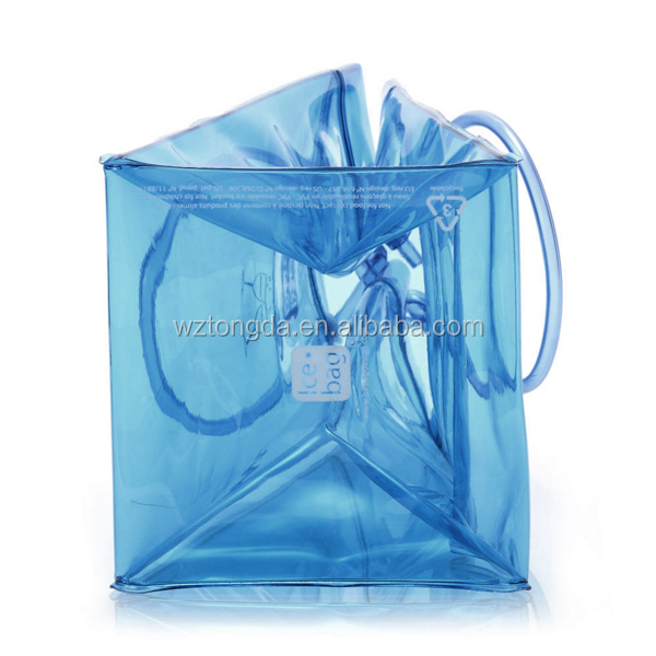 Various low cost PVC bag/ Clear pvc ice wine bag/ Reusable PVC Ice Bag