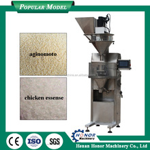 Stainless Steel Chicken Essence Packaging Machine With Vibration Feeding Manually Send Bag For Chicken Feed