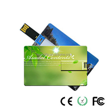 Newest Waterproof slim USB Card USB Business credit Card USB flash drive
