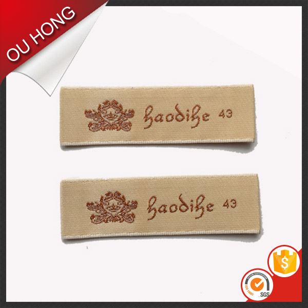 Wood Spindle Whipstitch Endfold Garment Neck Label Decorative Clothing Brand Labels