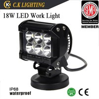 Super Bright! 12v 18W led driving light auto spot light Square 18w led work light for offroad 4X4 4WD JEEP TRUCK MOTO