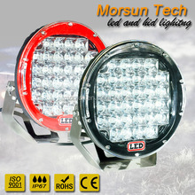96w 9 inch round led driving light, spot led worklight with cover, flood and spot pod light for bumper mouting