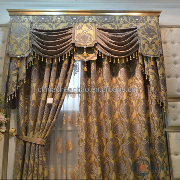 Luxurious ready made silk blackout church curtains
