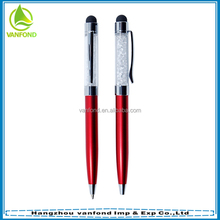 Factory direct price promotional stylus pens with glitter wholesale