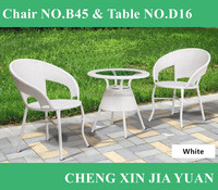B45+D16 terrace outdoor aluminum chair rattan seating/outdoor furniture chair cast aluminum/outdoor rattan chair stacking