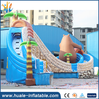 Giant boonie bears themed inflatable water park inflatable water slide water park slide for sale
