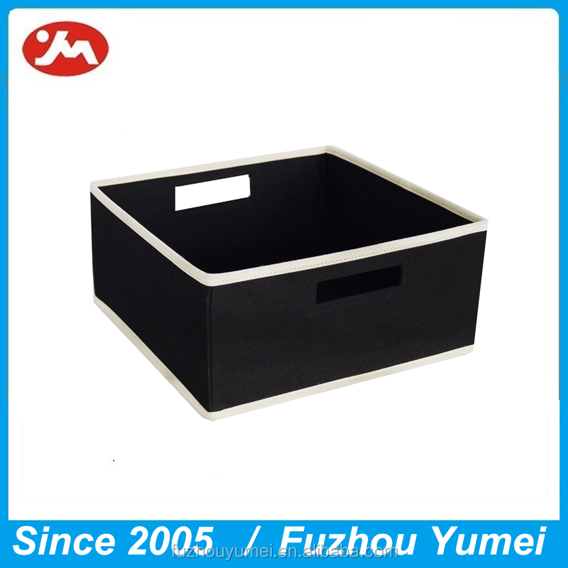 non-folding nonwoven fabric sundries storage cube with handle
