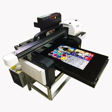 60*90uv flatbed printer metal aluminium plate tin can metal box aluminum stainless stell printing plotter price in india