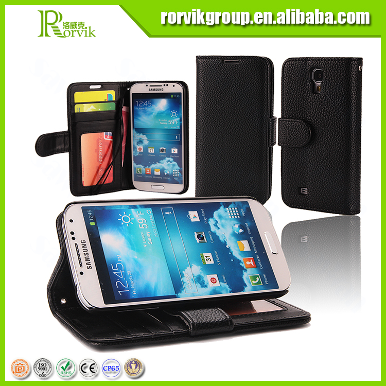 mobile phone leather case flip cover wallet case for samsung galaxy s4 case