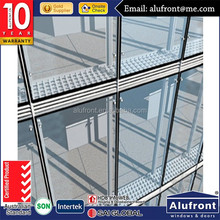 steel structrual spider curtain wall for commercial