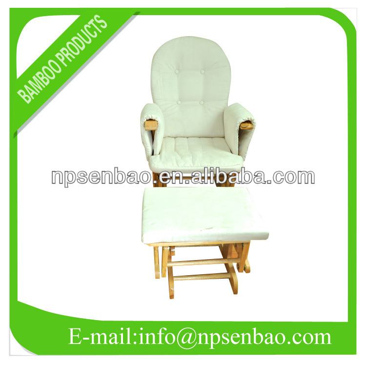 Recliner glider chair wood chair baby glider chair