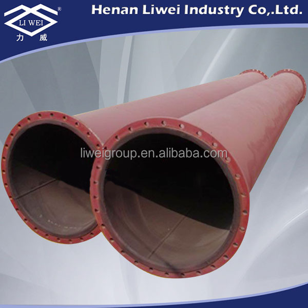 LIWEI 8 inch carbon steel EPDM rubber lined pipe fittings