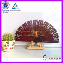 Vintage hollow folding spanish hand fans wooden gifts and collection