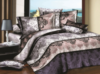 european style 3d printed rose pattern bedding set
