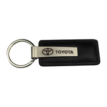 High Quality Promotional Zinc Alloy Laser Logo Black Leather Metal Car Keychain