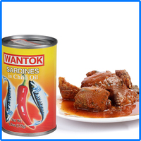 425g No additive raw material canned sardine in tomato sauce