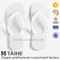 Pure color hollowed-out rubber wedding flip flops white slippers