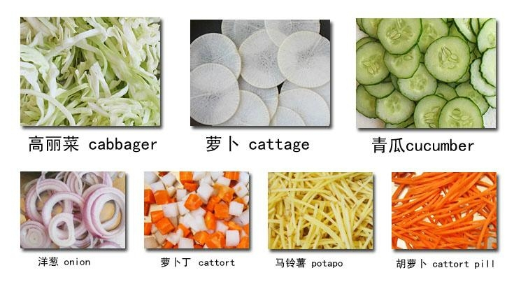 Industrial cabbage onion vegetable cutting machine