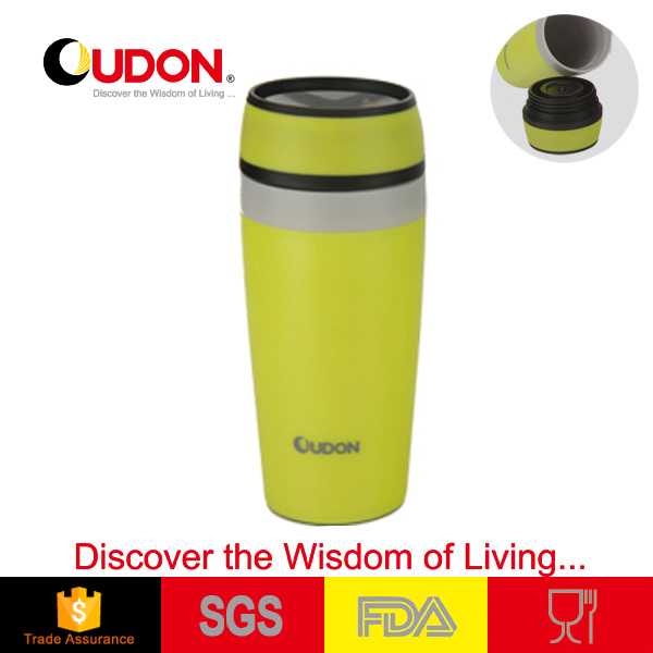Eco-friendly plastic insulated coffee mug thermos