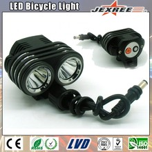 JEXREE Waterproof Aluminum Alloy Multi-Function High Power Battery Pack 2pcs XML2 Leds 1500lm Bicycle Light