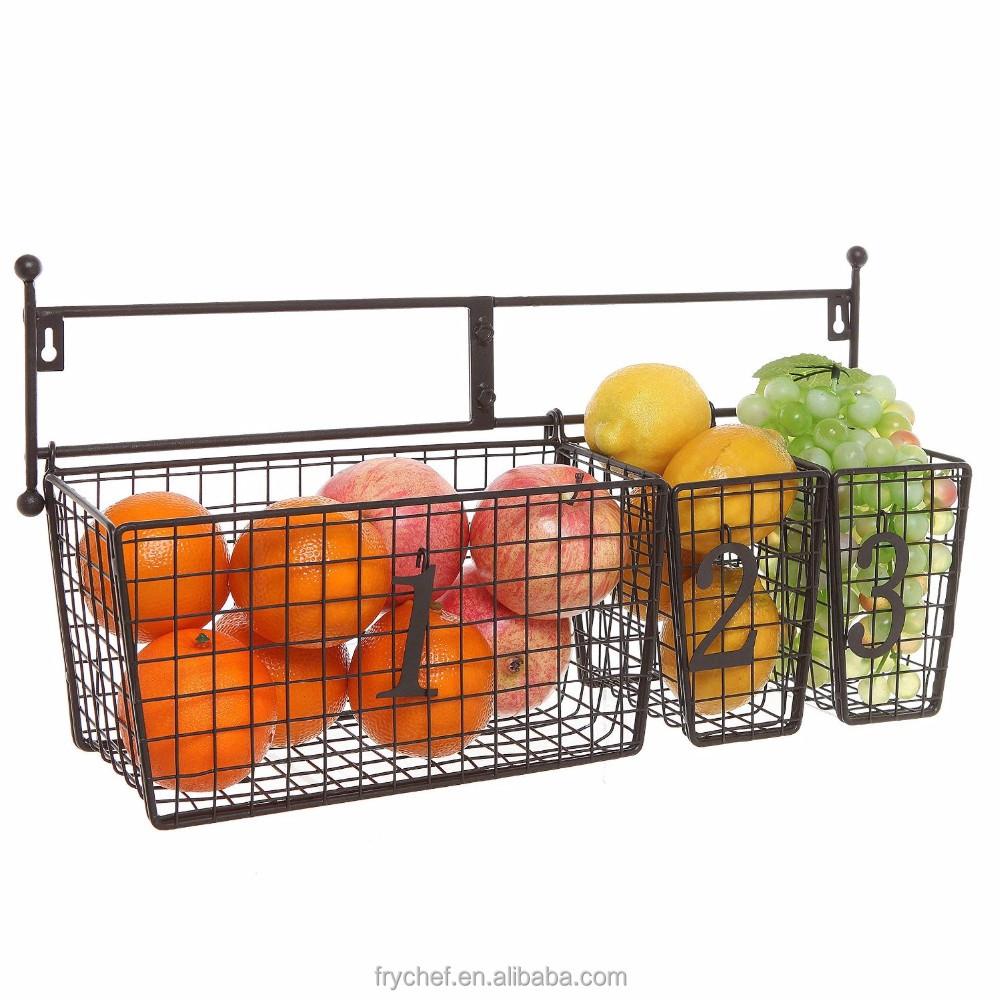 Large Storage Hanging Storage Wire Kitchen Vegetable
