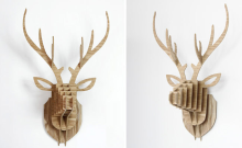 DIY Wall-mounted animal head avatar hang on the wall for home decoration
