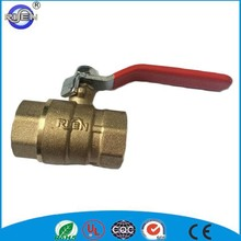 red iron lever handle forged pn-25 brass ball valve