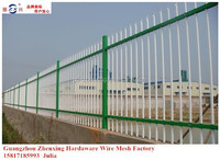 2015 new products for modern powder coated zinc steel tubular fence ZX-XGHL02