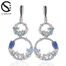 66160E Latest fashion designs number 8 eight shape hoop earrings big hanging earrings