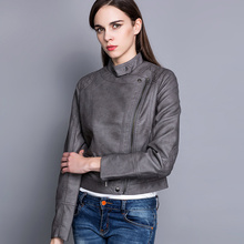 Wholesale New Arrival Attractive Modern Lady PU Leather Jacket