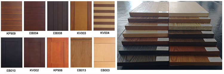 Customized Classical Furniture Color Wooden Kitchen Cabinet For Home
