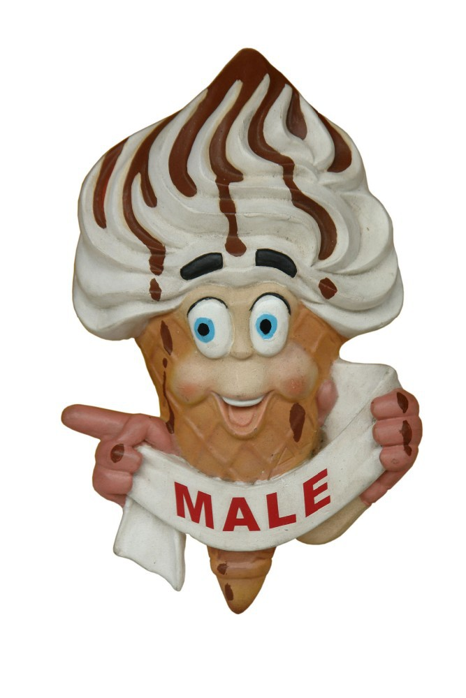 Resin Ice cream Toilet Door Sign (Male)