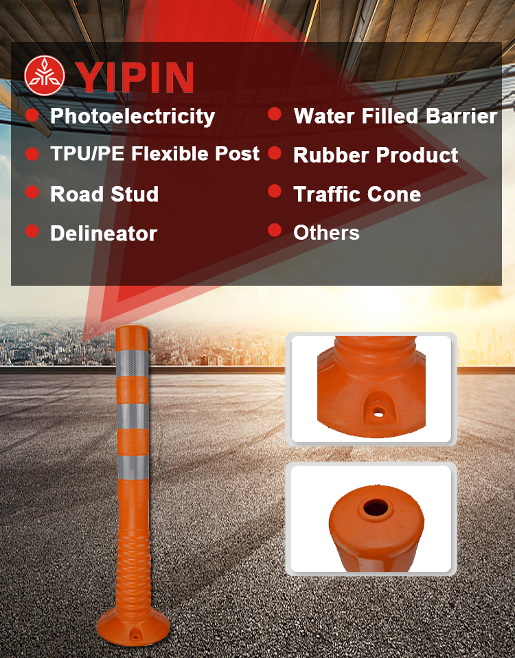flexible reflective post bollard Delineator Posts With Flags