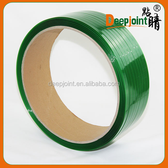PET Strap, Green/Black Color, Smooth/Embossed Surface Strapping band