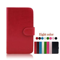High Quality Round Buckle PU Wallet Leather Stand Case for samsung galaxy s4 active mini i8580