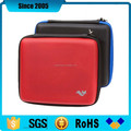 universal red pu cover eva charger carrying case