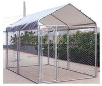 2016 popular hot sell outdoor cheap dog kennel professional customized galvanized cheap chain link dog cage