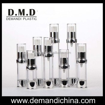 5ml 10ml 12ml 15ml empty airless bottle for cosmetic
