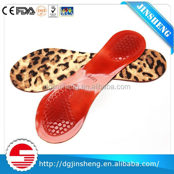 custom High Quality Gel Colour comfortable Shoes Silicone Pad