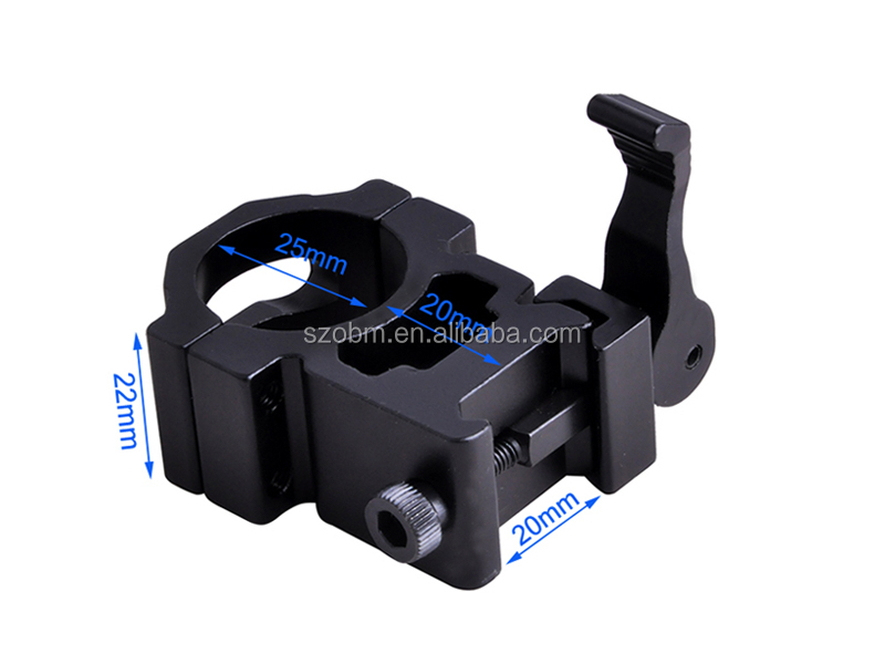 Aluminium Alloy 25mm Picatinny Tactical Hunting Mount Quick Detach Flashlight Laser Scope Mount
