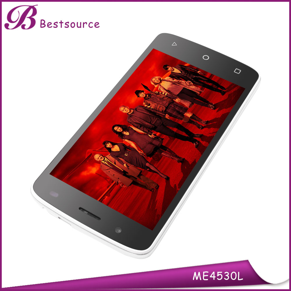 MT6572 Quad Core Android 5.0 Smart phone 4.5inch IPS Screen 8GB ROM GPS Dual Sim 3G Cell phone