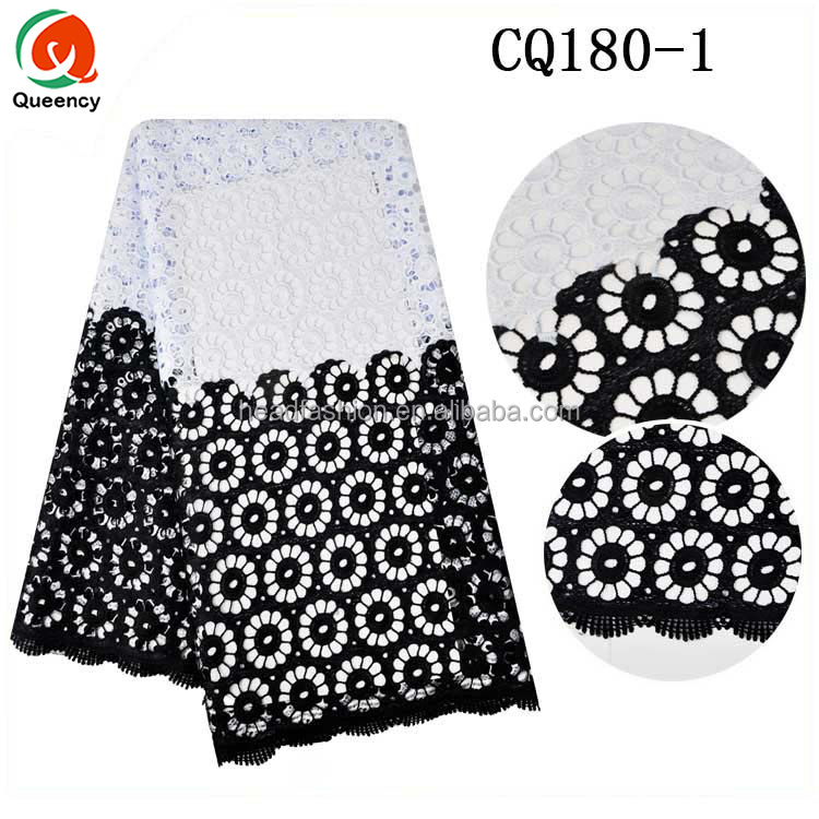 CQ180 Queency New Arrival African Style Multi Color Swiss Cotton Embroidered Guipure Lace Fabric