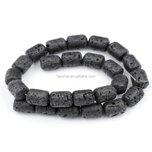 barrel 12x16mm lava stone for sale, natural lava stone beads