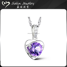 Women's 925 silver jewelry single big stone pendant design