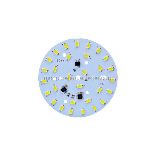 Circular Ceiling lamp aluminum pcb assembled, aluminum light board assembled