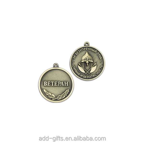 3D Alloy medal with house pattern and custom logo design