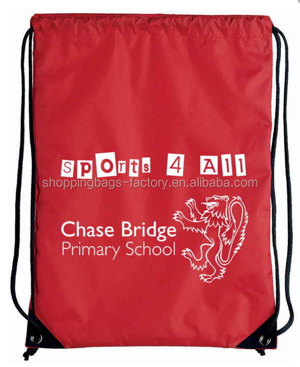 Cheap custom promotional sport pack recycled polyester carry drawstring bag