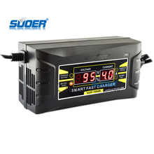 universal smart digital display 12v car battery charger 6A motorcycle motorcycle battery charger