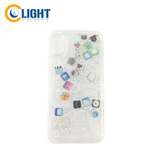 Flexible Protective liquid glitter phone case for samsung glitter water phone case for iphone case liquid