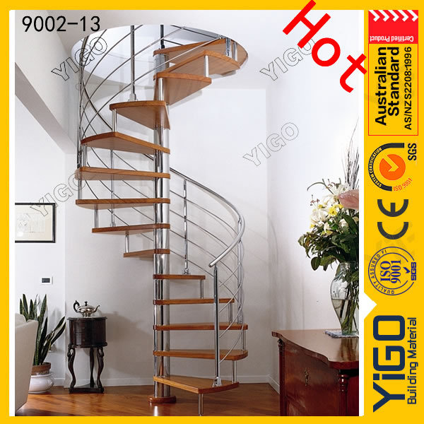 pvc handrail spiral stairs/spiral staircase installation